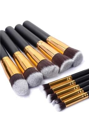 Gold Beauty Siyah Artskin Makyaj Fırça Seti 10'lu