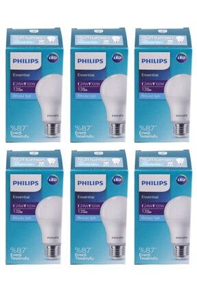 Philips Essential Led Lamba 13w - 100w E27 Duy 6500k Beyaz Işık( 6 Lü Paket)