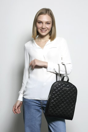 Marie Claire Kadın Siyah Sırt Çantası Rita Mc212102054