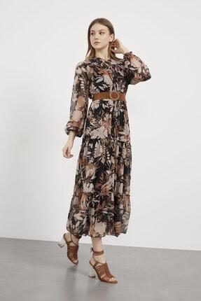 Arma Life Kadın  Süet Kemerli Şifon Elbise