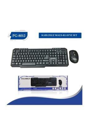 POLYGOLD Pg-8012 Kablosuz Wireless Keyboard Klavye Mouse Set Aynı Gün Ücretsiz Kargo!!!