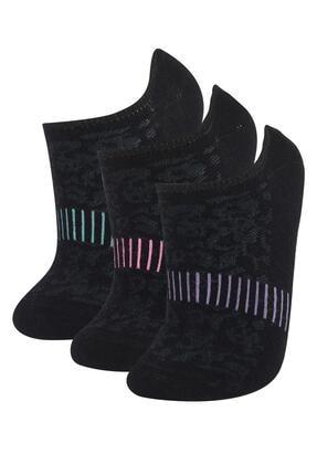 DeFacto Desenli Patik Çorap 3 lü