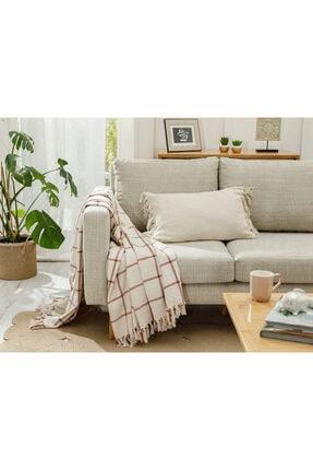 English Home Elegant Lines Pamuk Polyester Koltuk Şalı 130x170 Cm Kiremit