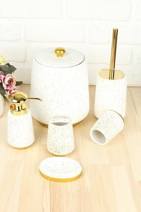 AROW Beyaz Renk Ella Banyo Takımı 6 Parça