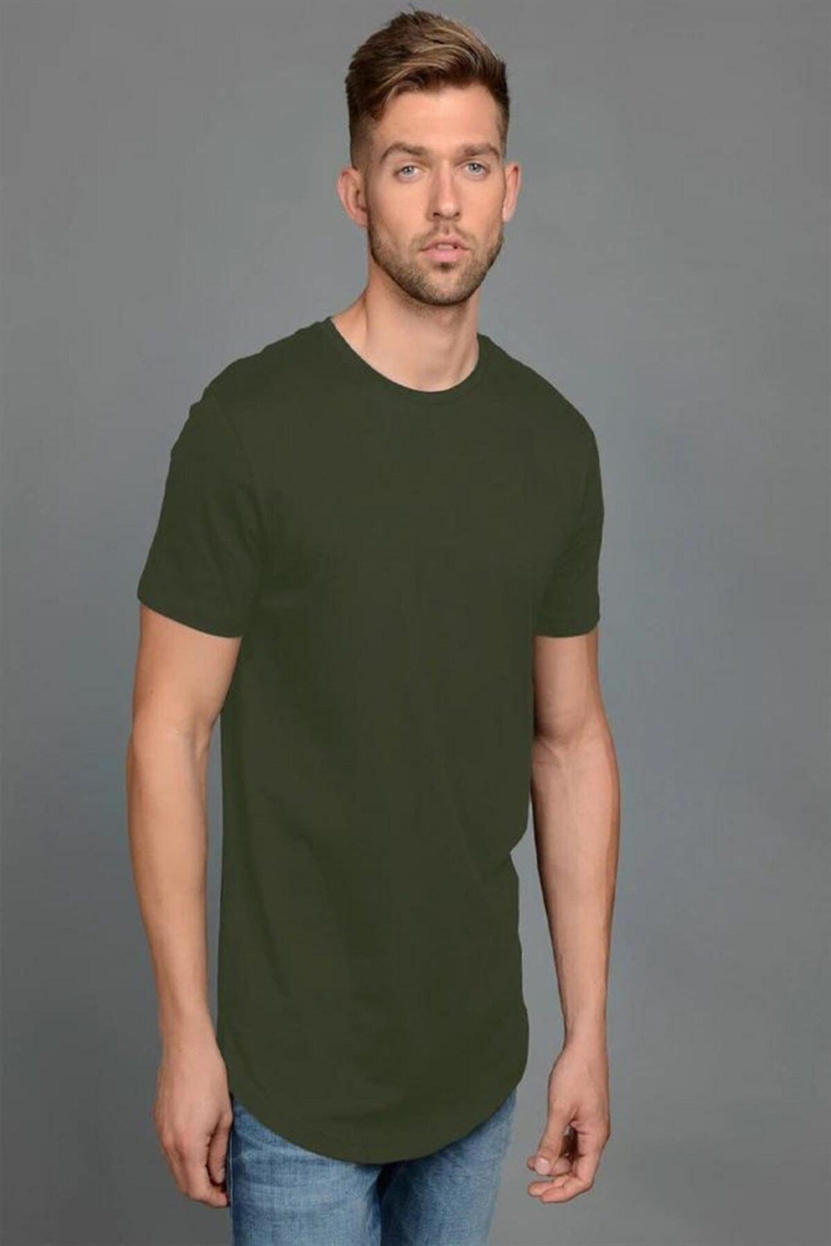 Jack & Jones s Erkek Düz Haki Yeşil Renk Tişört 12113648 1