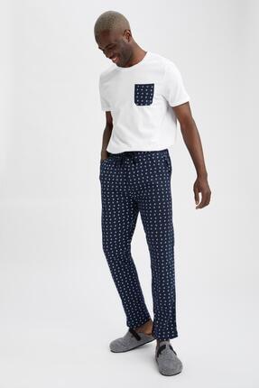 DeFacto Erkek Regular Fit Desenli Pijama Takımı