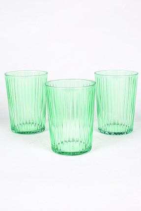 Rakle Sicilya 3'lü Meşrubat Bardağı Seti Yeşil 510 Cc