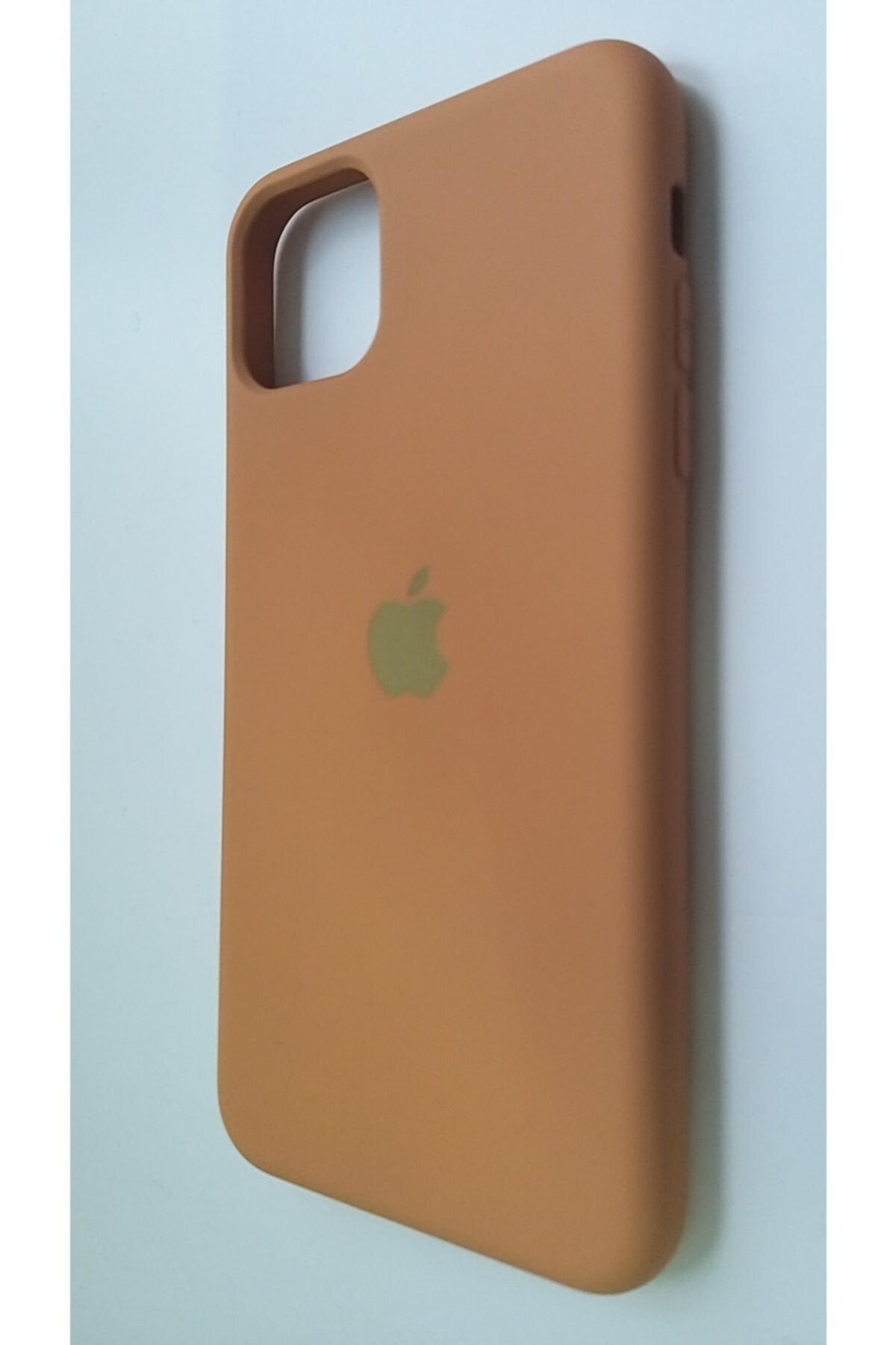 Pirok Store Iphone 11 Promax Taba Rengi Lansman Silikon Kılıf Içi Kadife Logolu 2