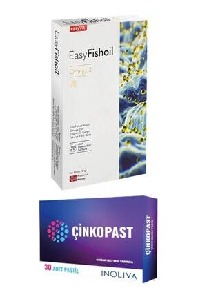 Easy Fishoil Easyfishoil Yetişkin Omega 3 30 Jel Tablet + Çinkopast Çinko Pastil 15 Mg 30 Adet