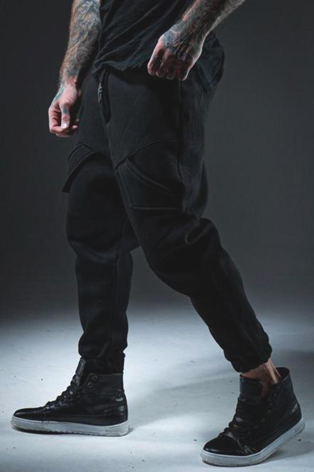 XHAN Erkek Siyah Cep Detaylı Şalvar 1kxe8-44376-02 2