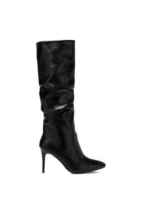 Nine West SISSO Siyah Kadın Ökçeli Çizme 100582115