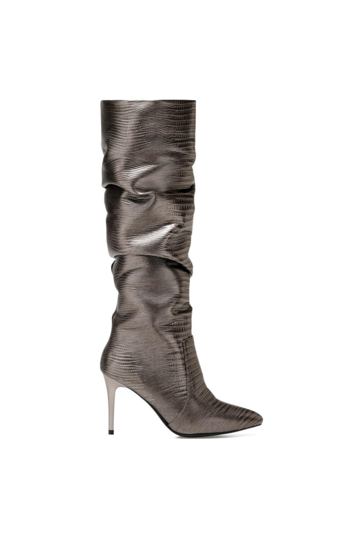 Nine West Sısso2 Antrasit Kadın Ökçeli Çizme 1