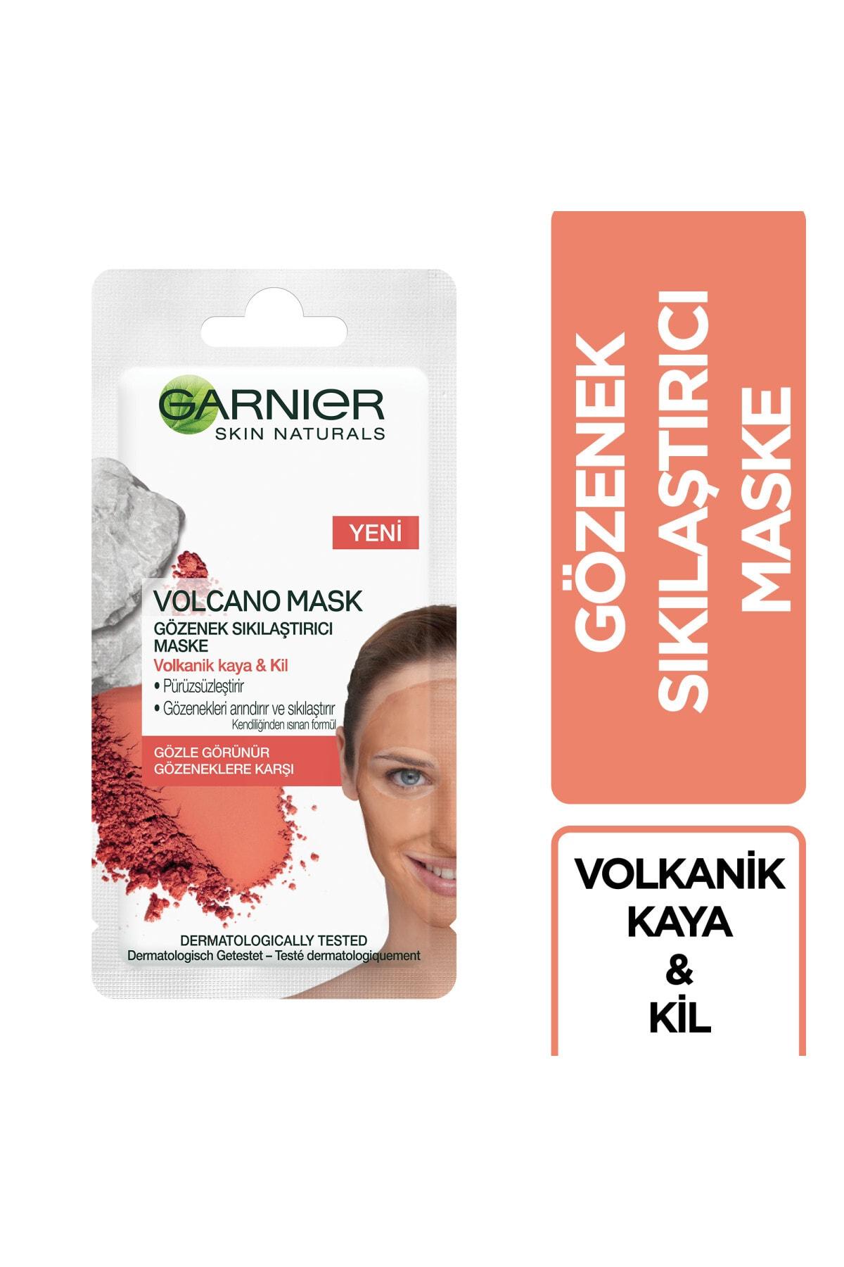 Garnier Volkanik Kaya ve Kil İçeren Gözenek Sıkılaştırıcı Kağıt Maske 1