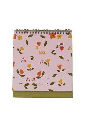 Fabooks Çiçekli Üçgen Masa Takvimi 2021