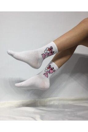 ADEL ÇORAP Kokulu Unisex Pembe Panter Desenli Kolej Çorabı