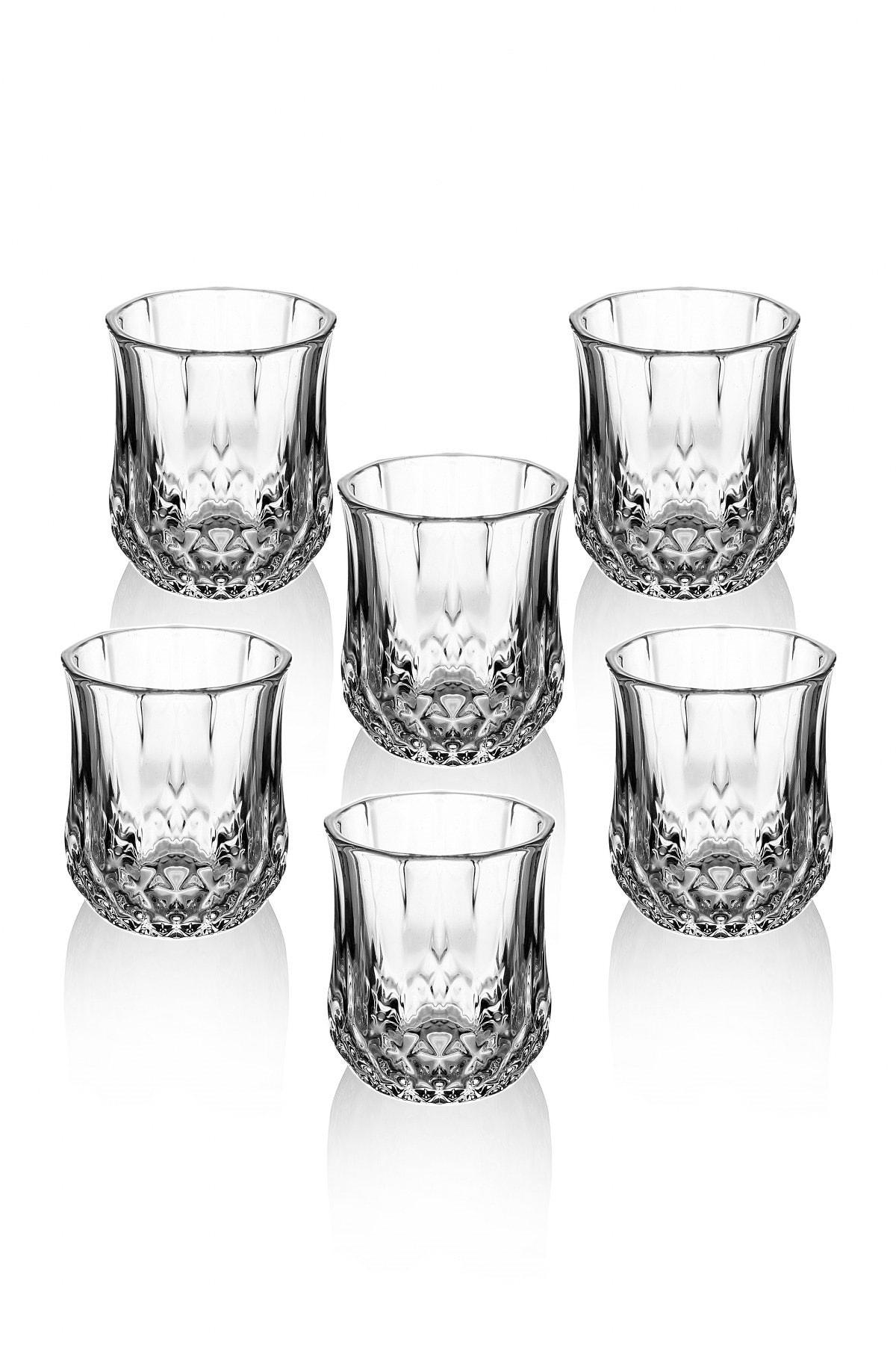 Queen's Kitchen Beyaz 6 Adet Kristal Kesme Lüx Kahve Yanı Su Bardağı 1