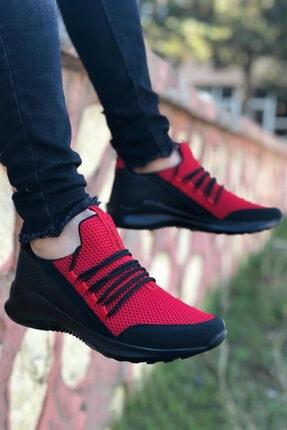 BIG KING Kırmızı Bağcık Detay Fileli Erkek Spor Ayakkabı