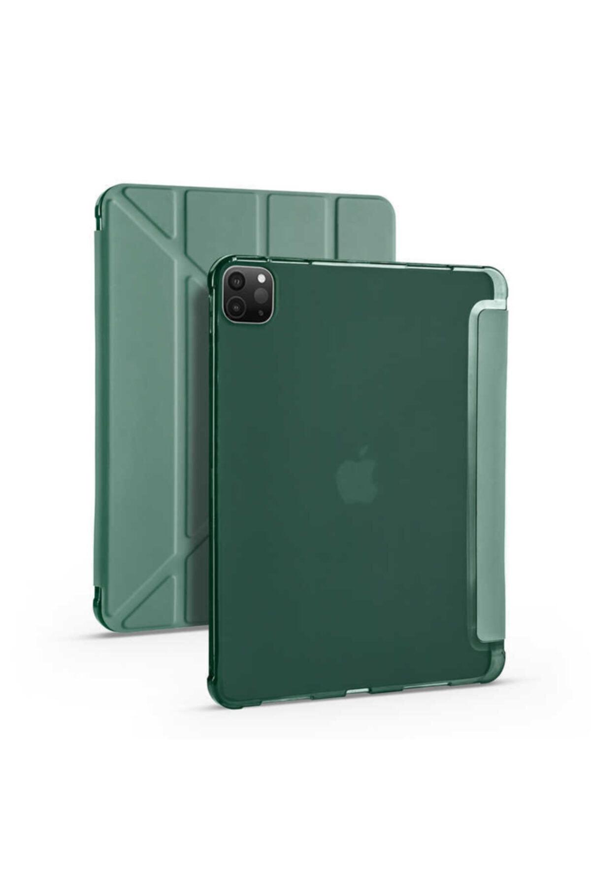 """zore Apple Ipad Pro 2020 11"""" Tablet Kılıfı Standlı Kalem Yuvalı Koruma Kapaklı Esnek Silikon Kapak 1"""