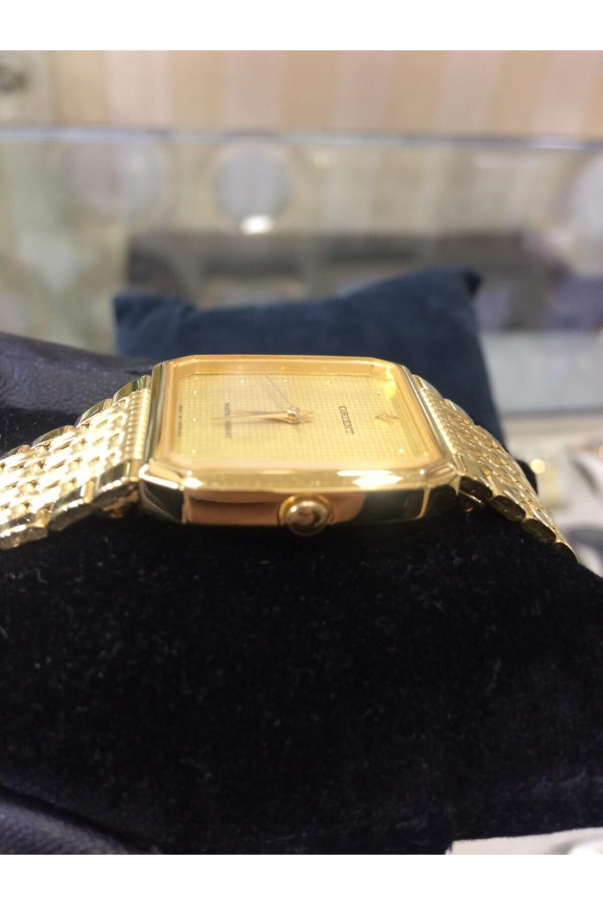 Orient Altın Sarısı Çelik Kordon Metal Kasa Unisex Saat 2