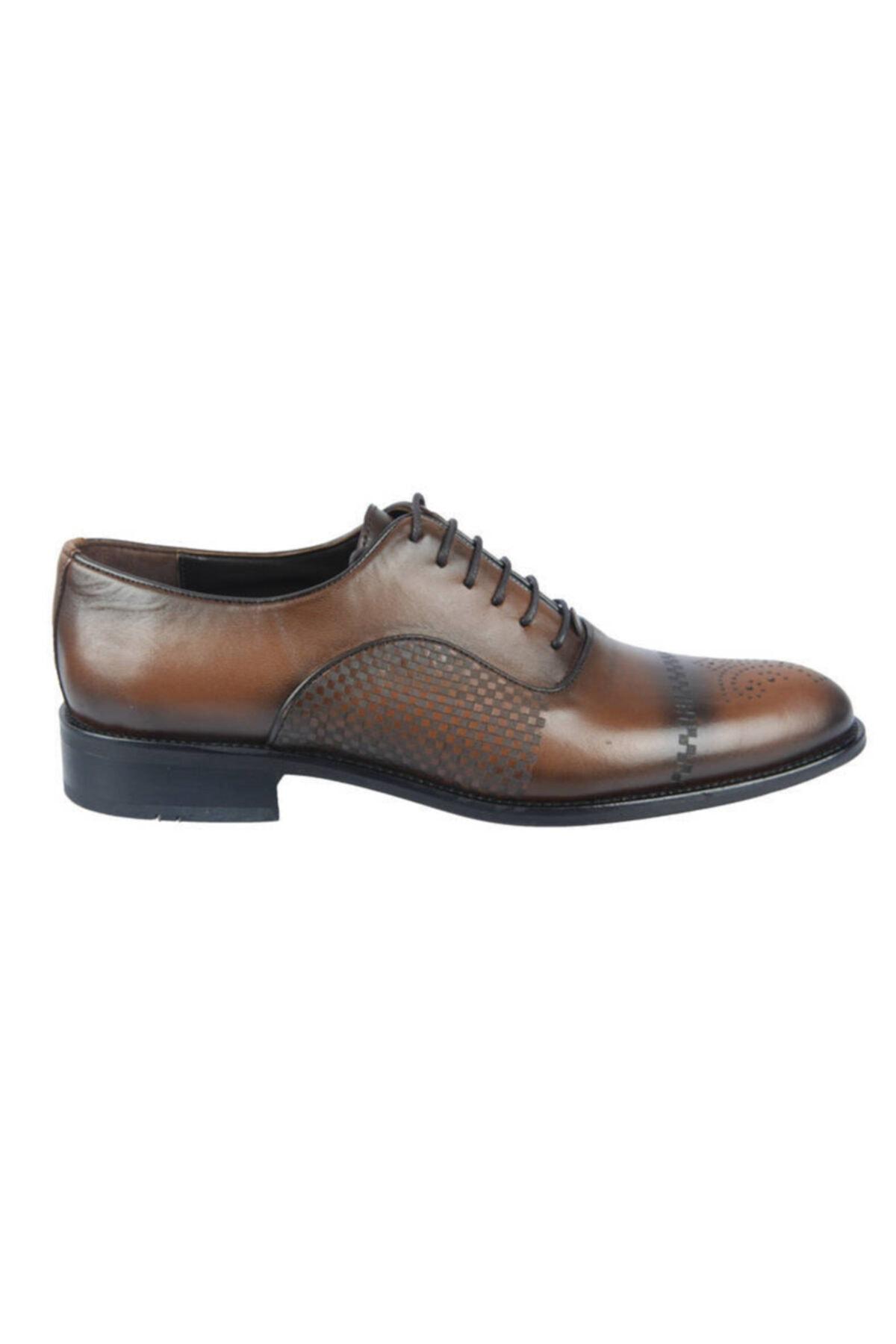 Centone Erkek Kahverengi Deri Klasik Ayakkabı 18-5052 2