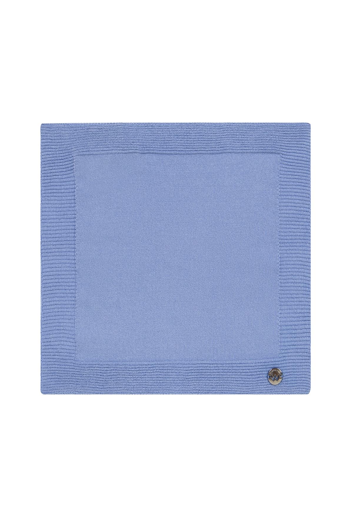 Hemington Ipek Örgü Açık Mavi Cep Mendili 2
