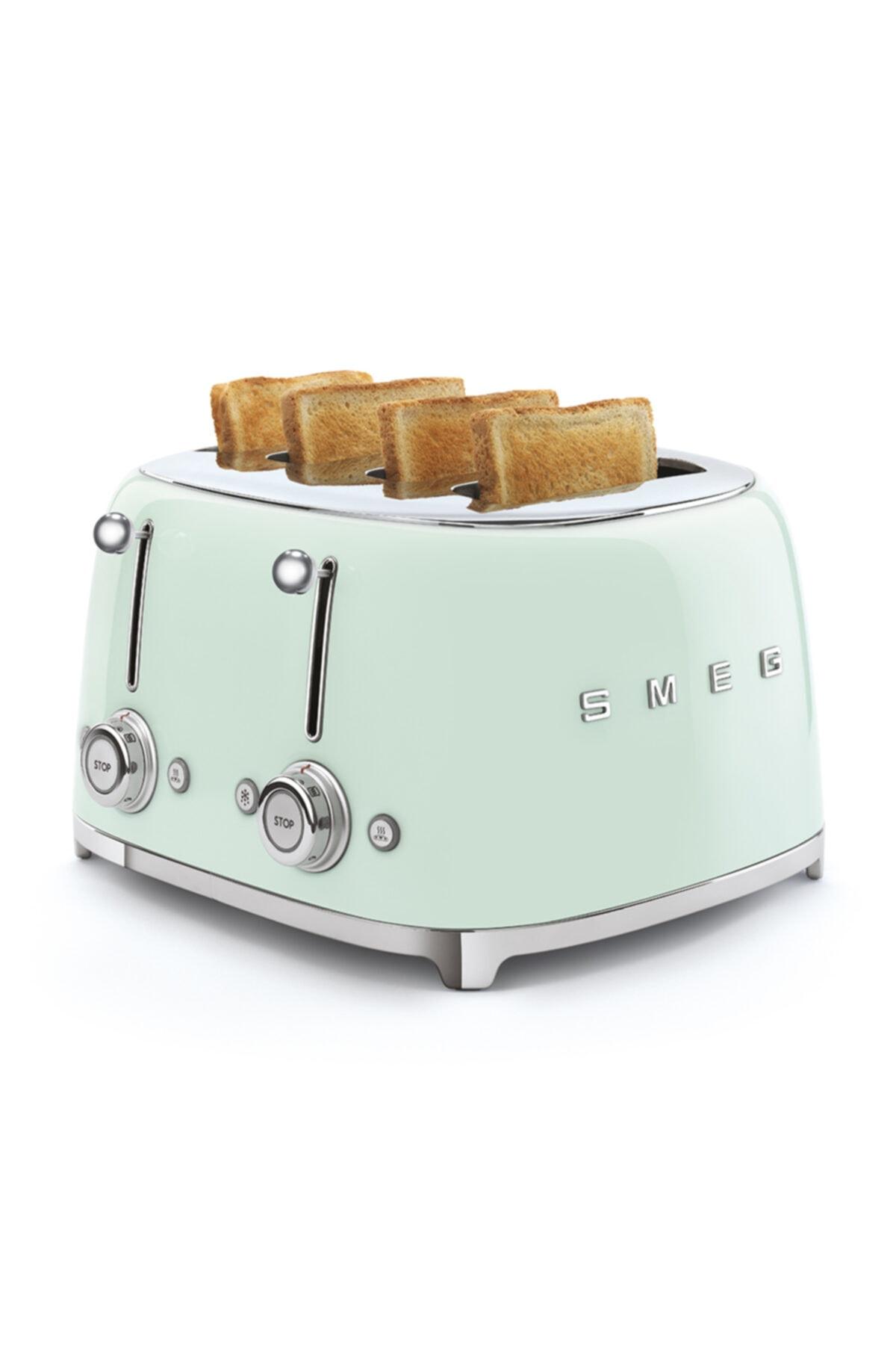 SMEG Pastel Yeşil 4 Dilimli Ekmek Kızartma 50's Style 2