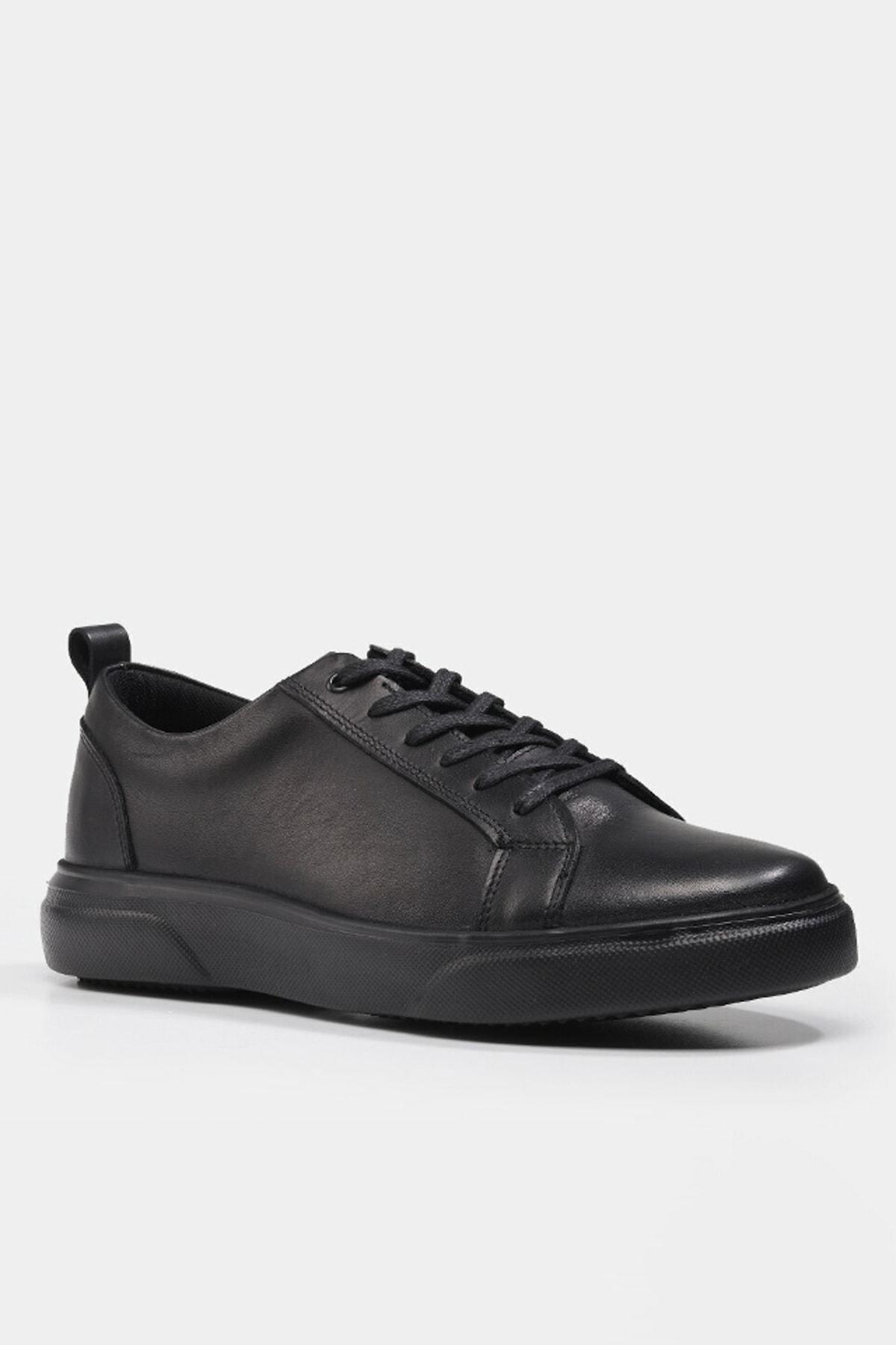 Hotiç Hakiki Deri Siyah Erkek Spor Ayakkabı 2