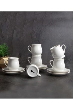 ACAR Porselen 6'lı Kahve Fincan Takımı