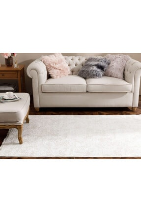 English Home Şal Desen Polyester Halı 80x150 Cm Ekru