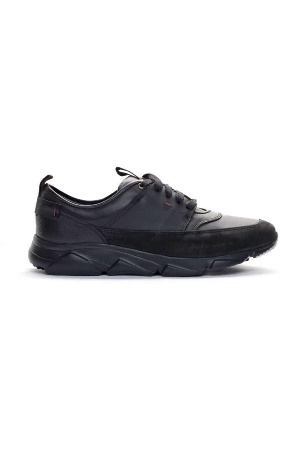 Giovane Gentile Erkek Siyah Bağcıklı Sneaker 1