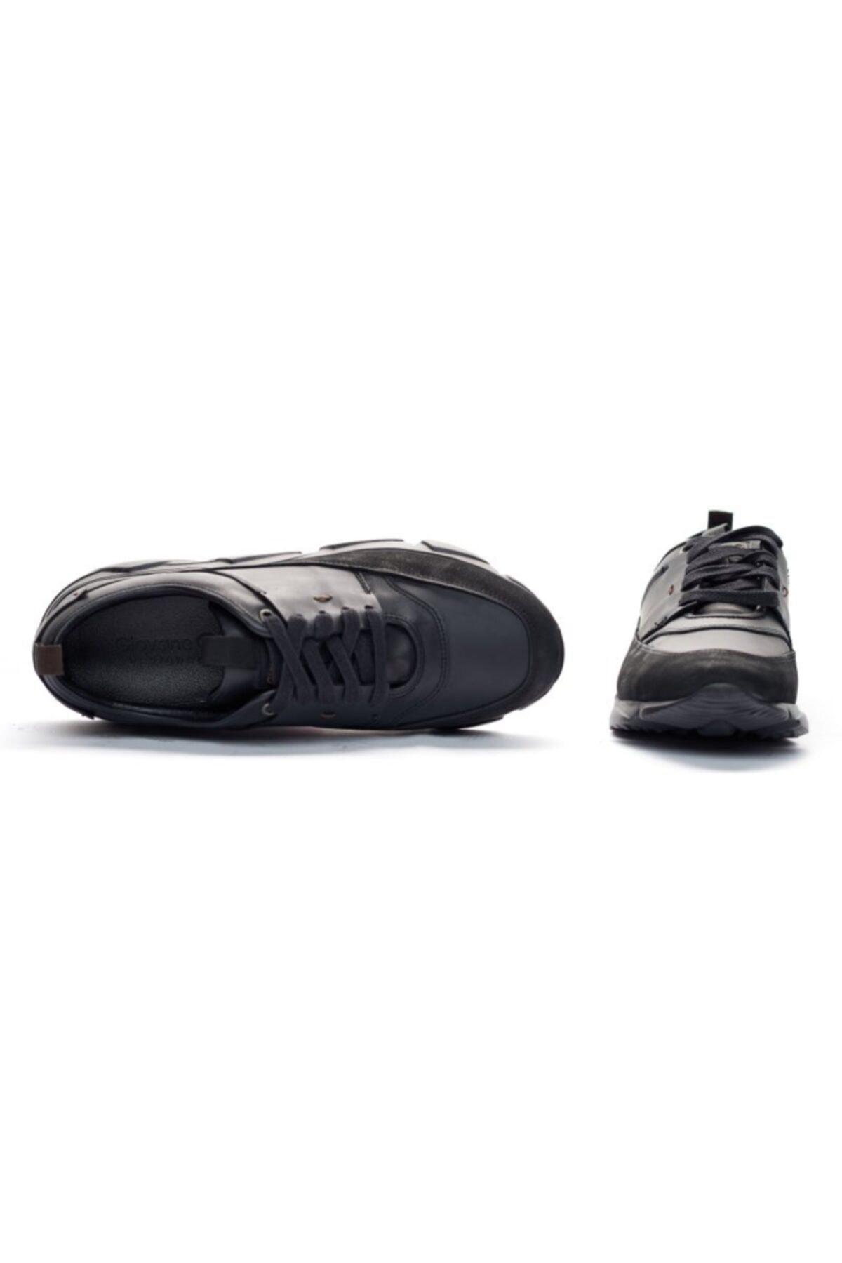 Giovane Gentile Erkek Siyah Bağcıklı Sneaker 2