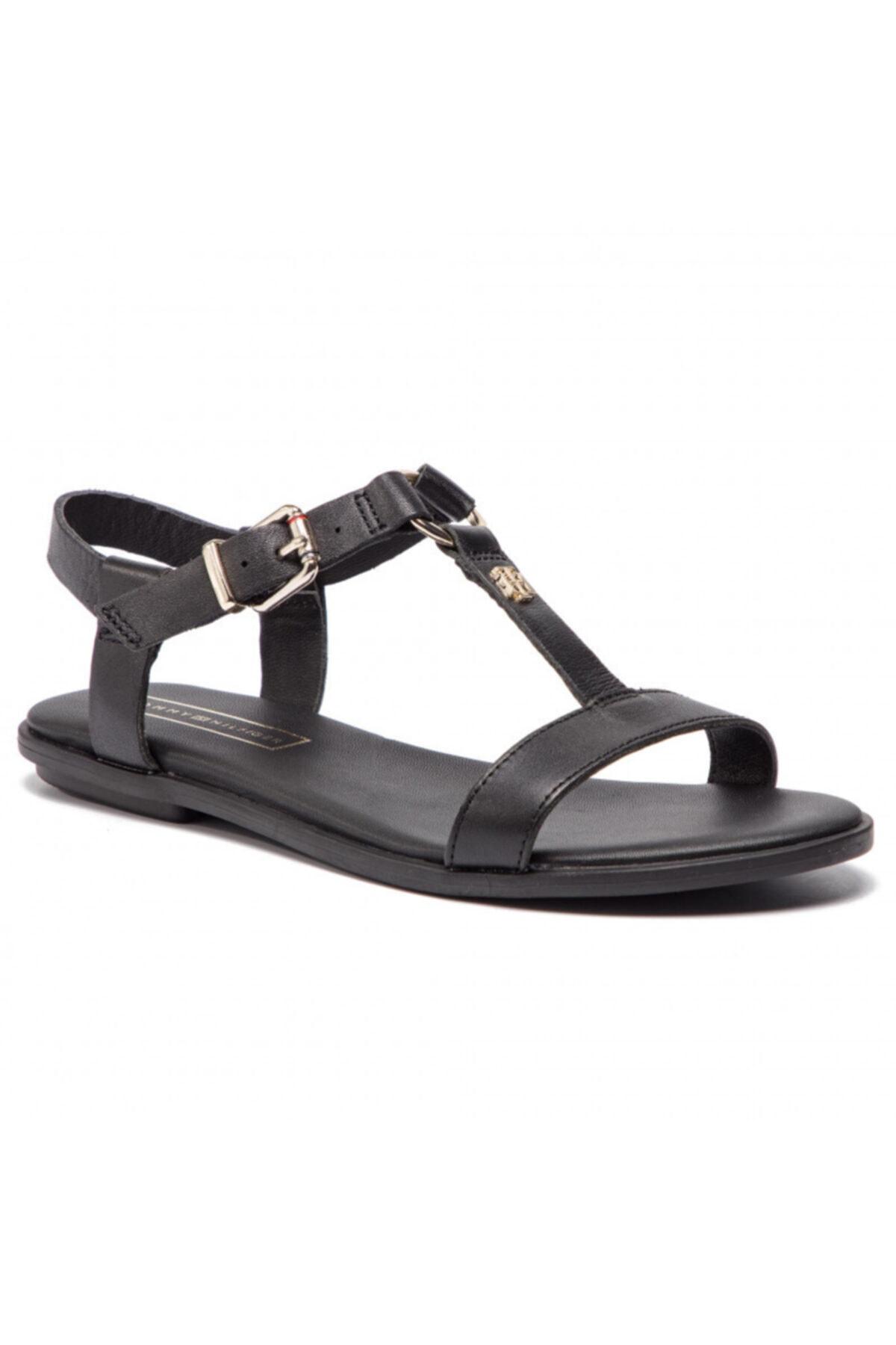 Tommy Hilfiger Kadın Deri Sandalet Fw0fw03946 1