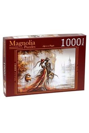 Magnolia Puzzle - 1000 Parça Puzzle – Kör Buluşma – Sevgililer Günü - Aşk - Blind Date - 2317