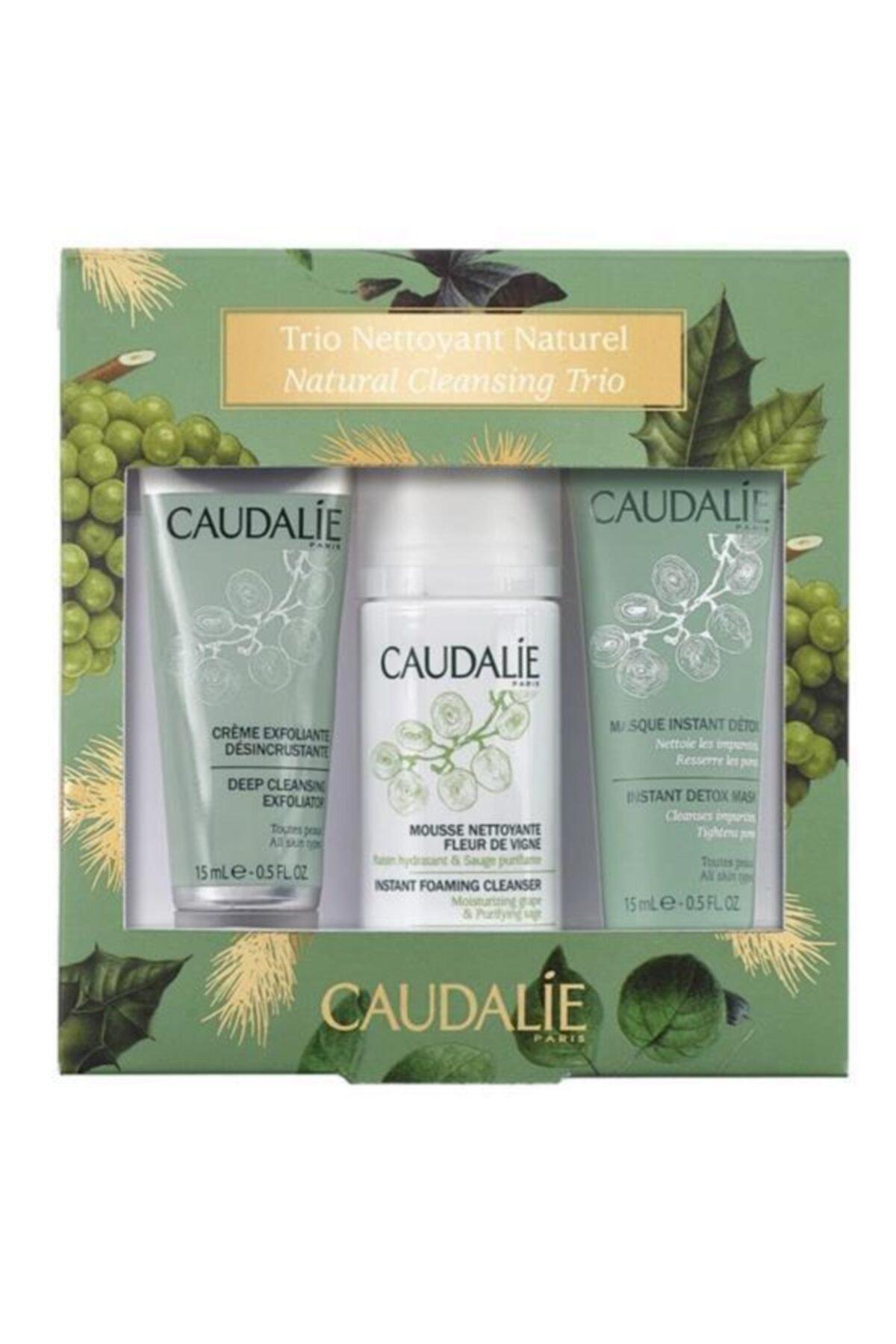 Caudalie Cleansing Trio Set - Yoğun Peeling & Temizleme Köpüğü & Detoks Etkili Maske 3522930026846 1