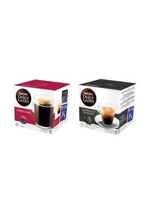 Nescafe Dolce Gusto Yoğun Aroma Sert Içim Kapsül Kahve Seti 2*16'lı Paket (americano-espresso)