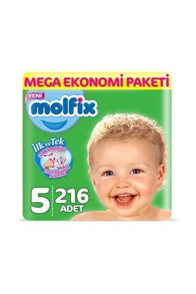 Molfix Bebek Bezi 5 Beden Junior Mega Ekonomi Paketi 216 Adet_ty