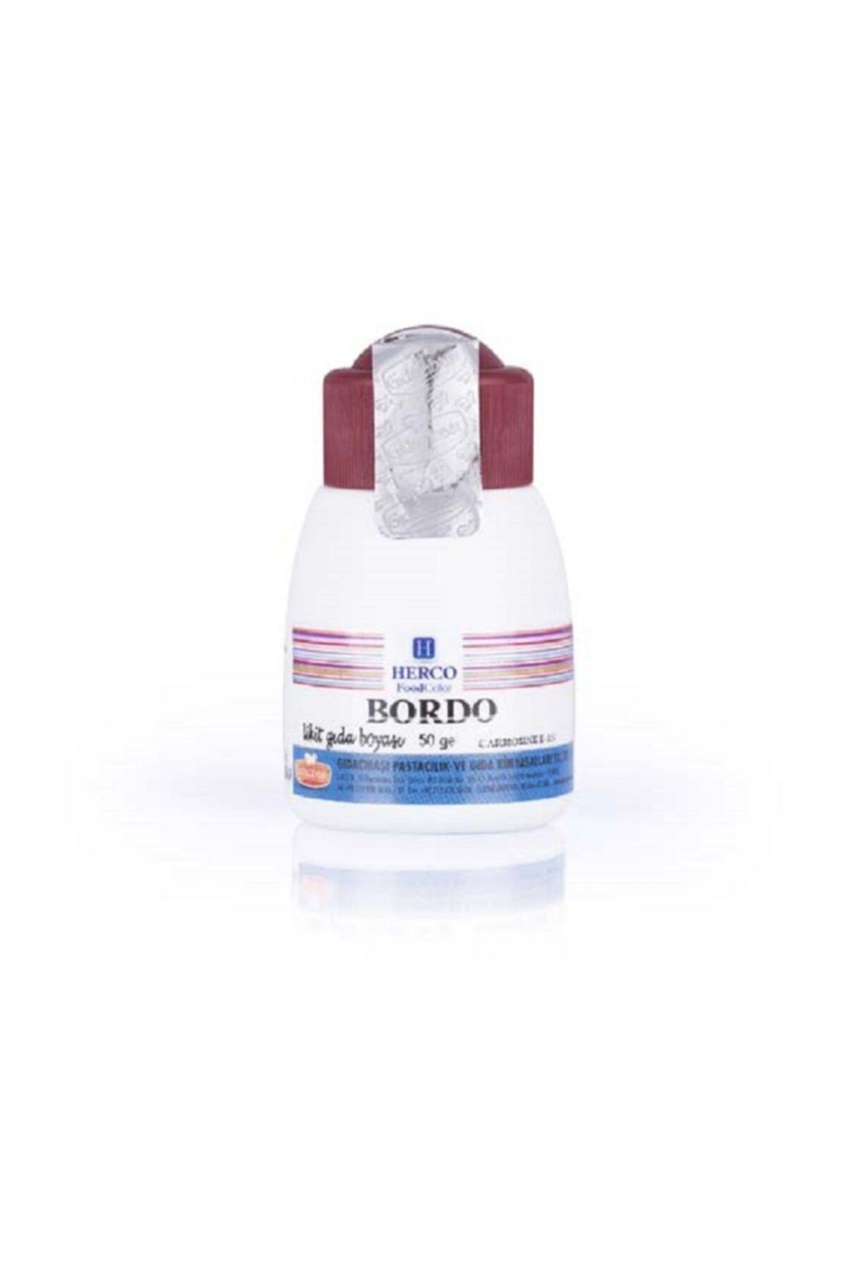 herco Vişne Bordo Sıvı Likit Gıda Boyası 50 Gr 1