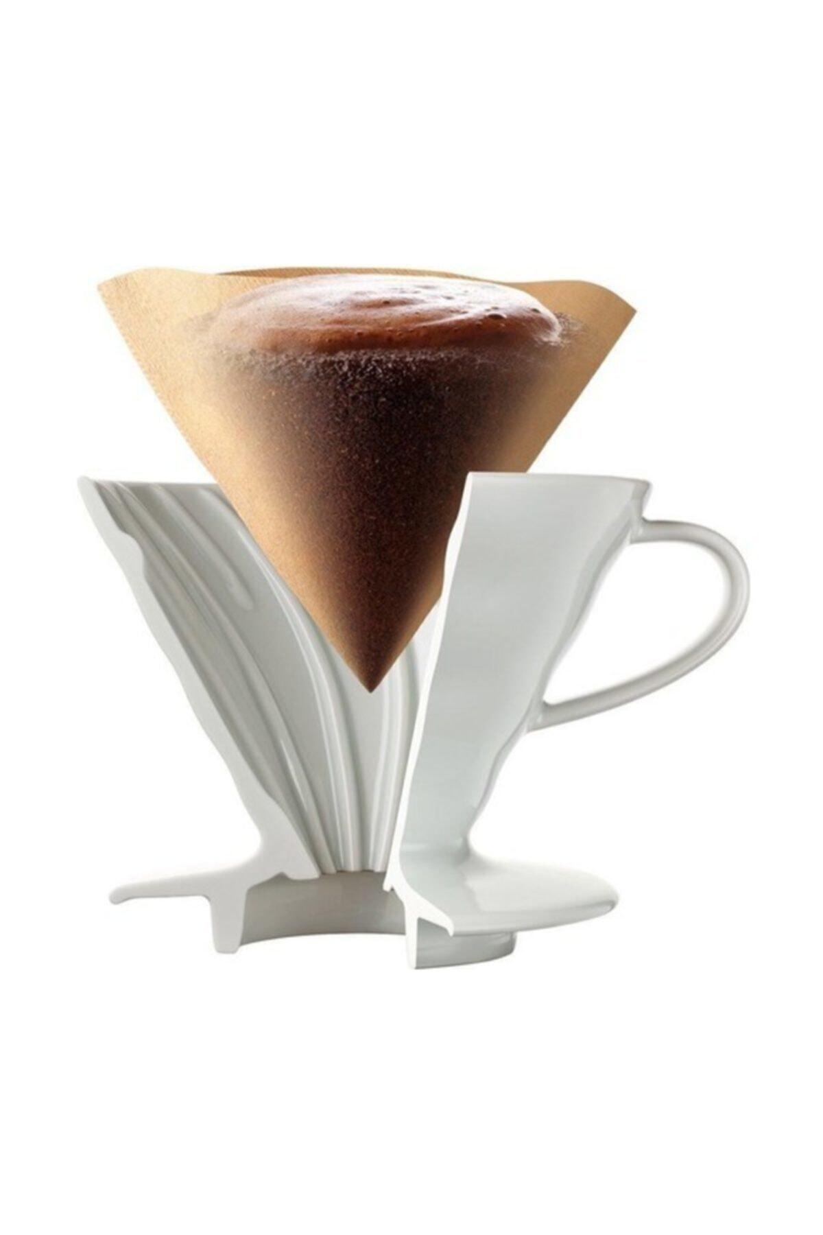Epinox V60 02 Seramik Kahve Demleme Ekipmanı (beyaz) Ceramic Coffee Dripper V60 02 (white) 1