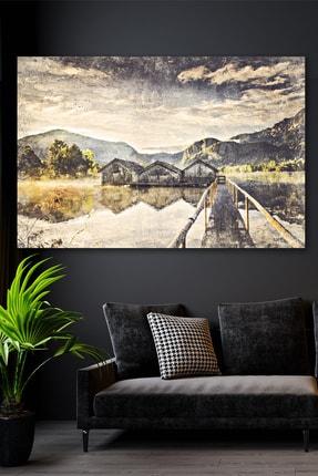 Hediyeler Kapında Yağlı Boya Görünümlü Çiftlik Kanvas Tablo 70x100