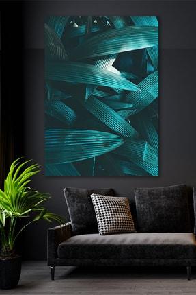 Hediyeler Kapında Yabani Yapraklar Kanvas Duvar Tablo 90x130