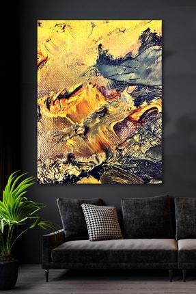 Hediyeler Kapında Altın Suyu Kanvas Soyut Tablo 90x130