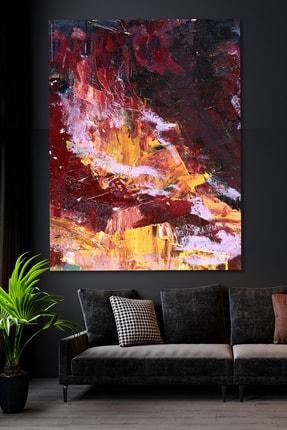 Hediyeler Kapında Sürreal Bordo Kanvas Duvar Tablo 100x140