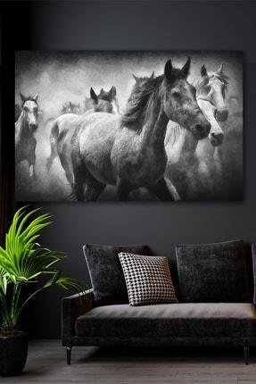 Hediyeler Kapında Yılkı Atları Kanvas Duvar Tablo 100x140