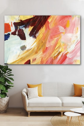 Hediyeler Kapında Pembe Soft Sürreal Kanvas Duvar Tablo 100x140 cm