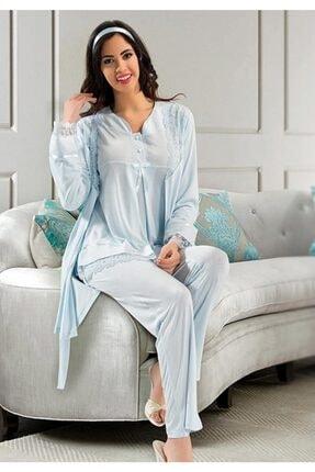 Xses Kadın  Sabahlıklı Lohusa Pijama Takımı