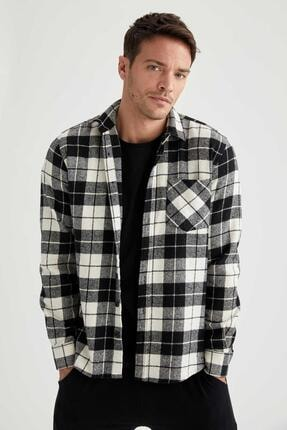 DeFacto Kareli Modern Fit Uzun Kollu Oduncu Gömlek Ceket