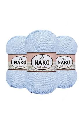 NAKO Pırlanta 01820 (Açık Mavi) Amigurumi El Örgü Ipi/yünü 1 Adet