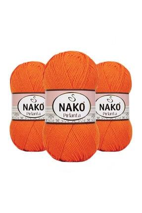 NAKO Pırlanta 06733 (Canlı Oranj) Amigurumi El Örgü Ipi/yünü 1 Adet