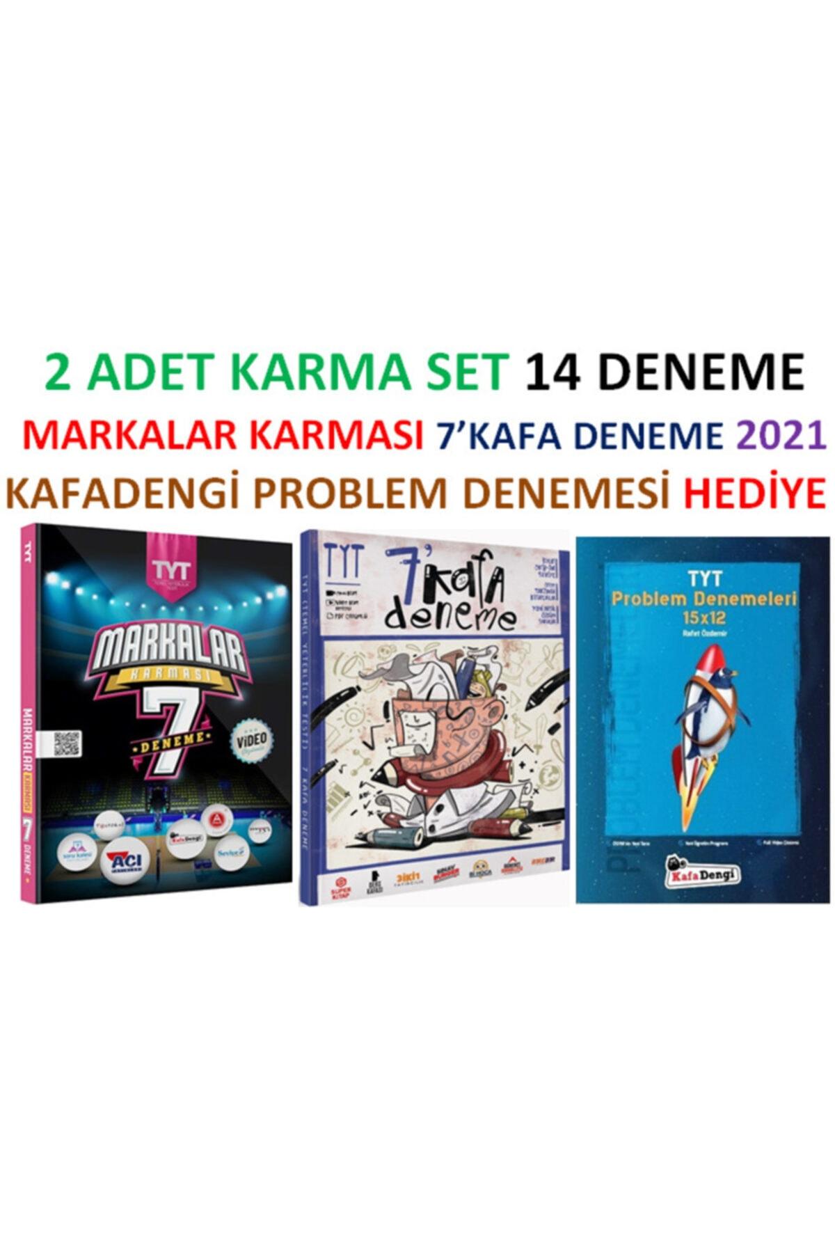 Süper Kitap Markalar Karması + 7kafa Yayınları Deneme Setlri 2li Set 2021 Hed 1