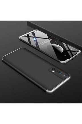 Oppo Realme 7 Kılıf Sert 360 Hard Protective Kapak Siyah-gri